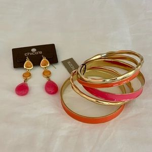Chico's Bracelets Set and Earrings